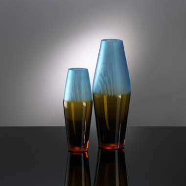 Cyan Design Chiseled Top Vase  Contemporary Vase