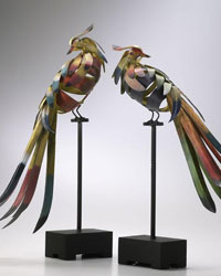 Multicolored Birds Set 01229 by