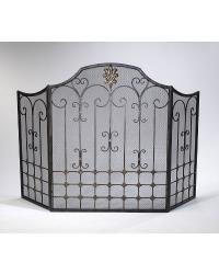Bronze Fire Screen by