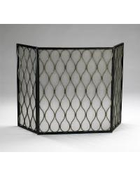 Gold Mesh Fire Screen by