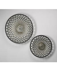 Round Gold Mesh Wall Art  Set of 2 02008 by