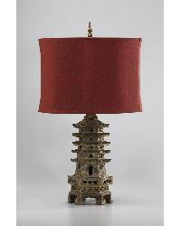 Pagoda Table Lamp by