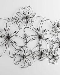 Six Flower Fancy Wall Art 05833 by