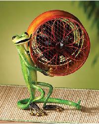 Mini Gecko Figurine Fan by