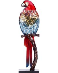 Parrot Colorful Figurine Fan by