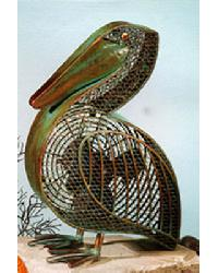 Pelican Decorative Fiugrine Fan by