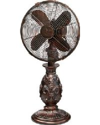 Fleur De Lis Copper Table Fan by