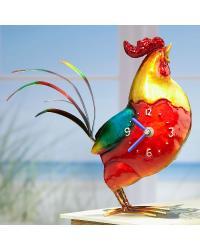 Color Rooster Metal Desk Clock by