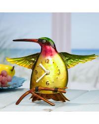 Color Hummingbird Metal Desk Clock by
