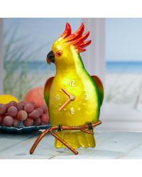 Color Cockatoo Metal Desk Clock by