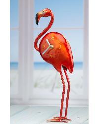 Color Flamingo Metal Desk Clock by