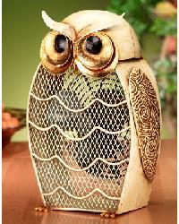 Snow Owl Figurine Fan by