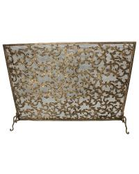 Light Burnished Gold Acanthus Leaf Design Fire Screen by