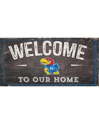 Kansas Welcome Distressed 6 x 12 by