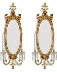 6674  Leighton Mirrored Sconce by