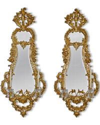 6964  Mirrored Sconces by