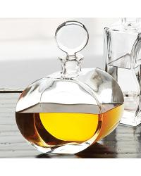 Round Glass Decanter Offset Shape by