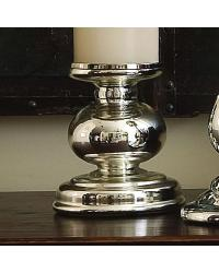 Cheltenham Candle Holder in Mercury Glass by