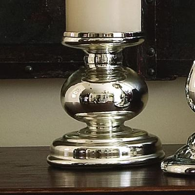 Global Views Cheltenham Candle Holder in Mercury Glass  Candle Holders and Candelabra