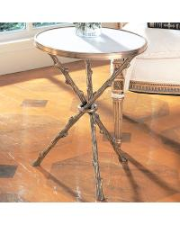 Twig Table Brass/White Marble by