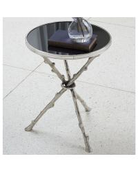 Twig Table Nickel/Black Granite by
