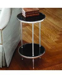 Petite 2 Tiered Table Nickel by