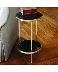 Petite 2 Tiered Table Antique Brass by