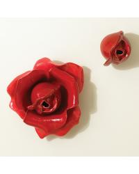Red Rose Wall Brooch by