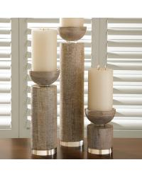 Scratched Pillar Holder White by