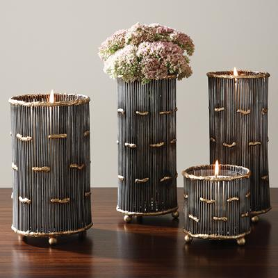 Global Views Spokes Vase/Candleholder  Candle Holders and Candelabra