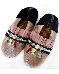 Button Up Womens Slipper by