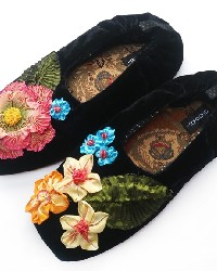 Millefleur Black Womens Slipper by