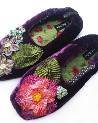Millefleur Purple Womens Slipper by