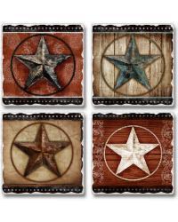 Barn Star Coaster Set by