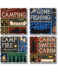 Camp Days Coaster Set by