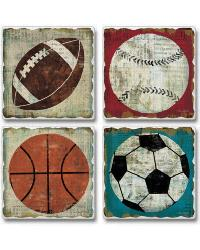 Game Ball Coaster Set by