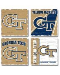 Georgia Tech Yellow Jackets Square Coaster Set by