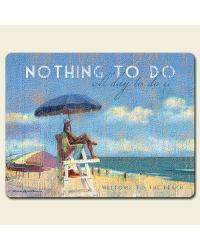 Relax at the Beach Large Glass Cutting Board by