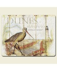 Wetland Shorebirds Large Glass Cutting Board by
