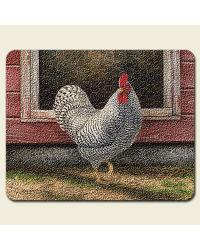 Barnyard Roosters Small Cutting Board by