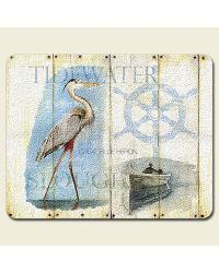 Wetland Shorebirds Small Glass Cutting Board by