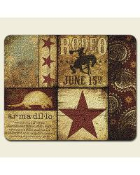 Western Rodeo Small Glass Cutting Board by
