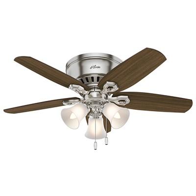 hunter fans 1671 51092  481160 hutner fans 1671 51092  Builder Low Profile Brushed Nickel 42 Inch