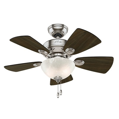 hunter fans 1671 52092  481161 hutner fans 1671 52092  Watson Brushed Nickel Ceiling Fan 34 Inch