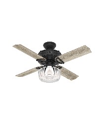 Brunswick With Globe Light Kit 44in Natural Iron Damp Outdoor Fan by