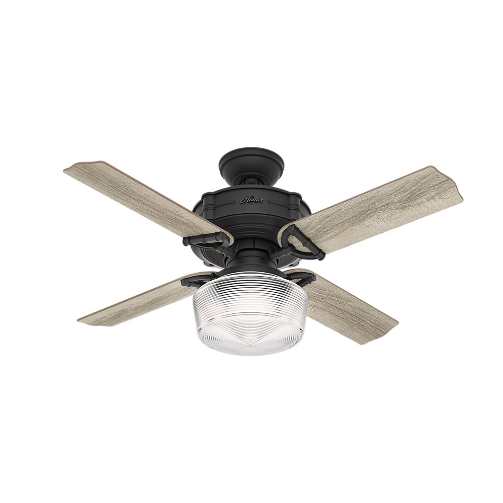 Hunter Outdoor Ceiling Fans With Lights: Brunswick With Globe Light Kit