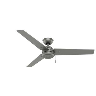 481174 Cassius 52 Inch Ceiling Fan 59262 silver ceiling fans outdoor ceilings fans patio ceiling fans Cassius 52 Inch Silver Ceiling Fan Damp