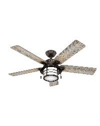 Key Biscayne 54in Onyx Bengal Damp Outdoor Fan by