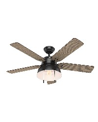 Mill Valley 52in Matte Black Damp Outdoor Fan by