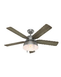 Mill Valley 52in Matte Silver Damp Outdoor Fan by